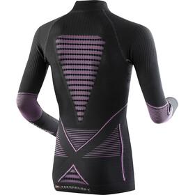 X-Bionic Accumulator Evo LS Turtle Neck Top Women, charcoal/fuchsia